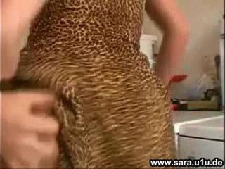 German Milf Sara Fucked In The Kitchen