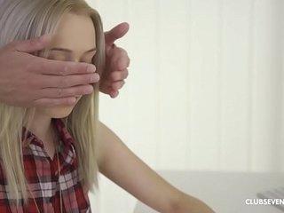 Gorgeous blonde teen babe moaning while fucked hardcore