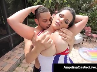 Cuban Porn Queen Angelina Castro Gets A Big Black Cock & Cum