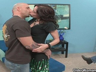 Milf fucks a stranger while cuckold hubby takes pictures with his phone
