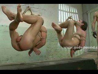 Leather whip spanks soft skin of slaves